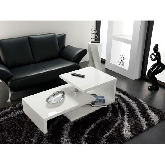3e7dad54656a4 Geno Coffee Table In White High Gloss With Rotation