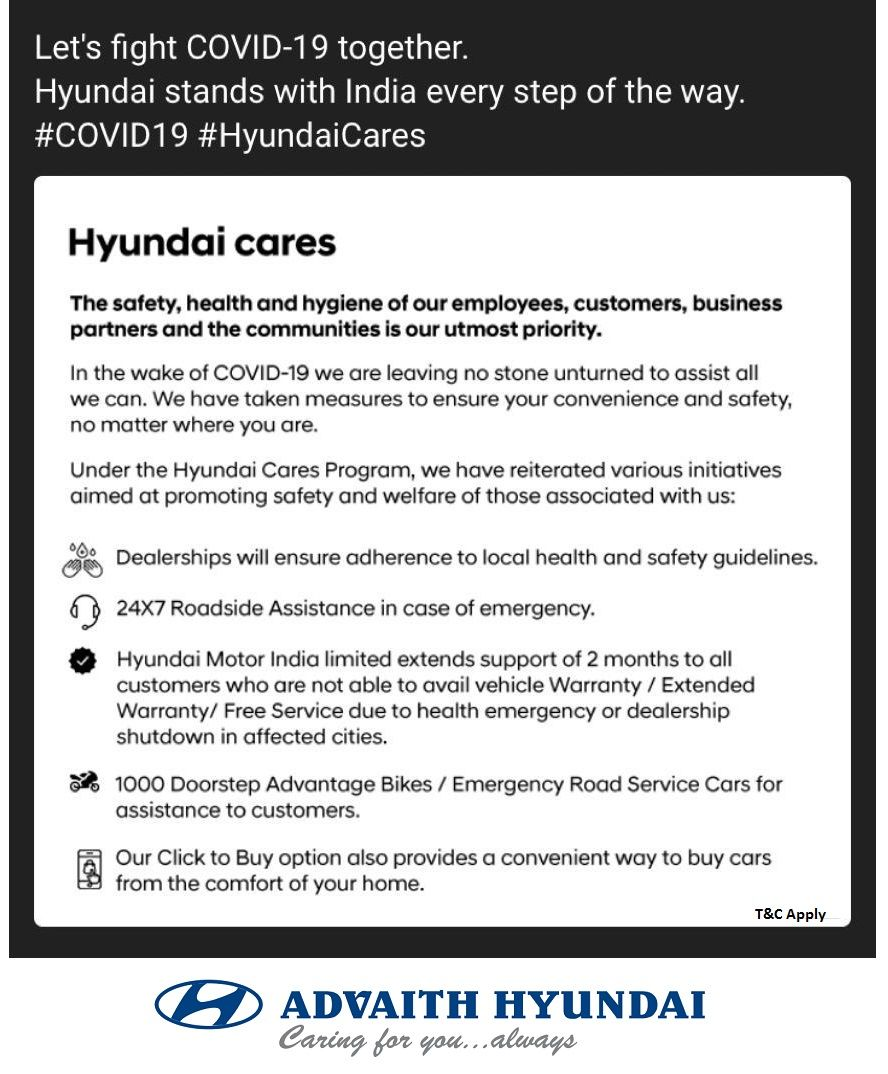 Hyundai Cares If You Are A Hyundai Customer Unable To Visit A