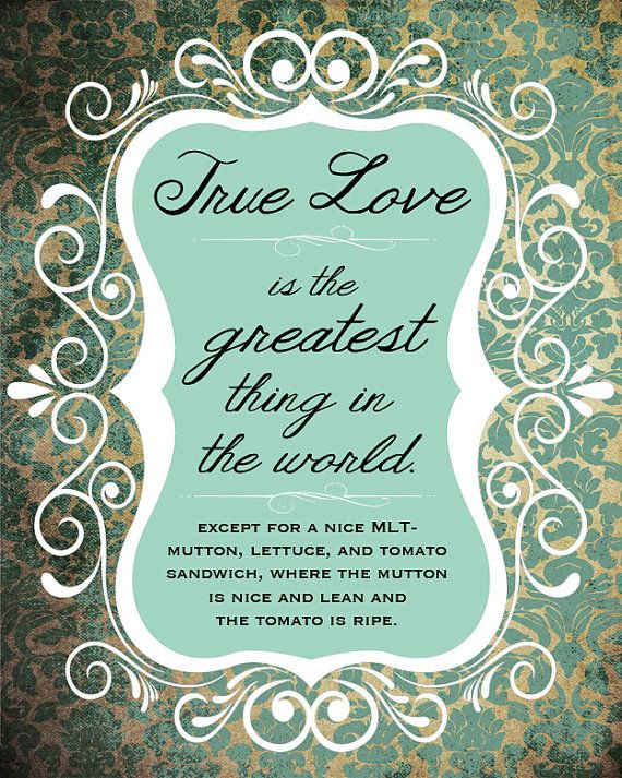 True Love Mlt 8x10 Print Princess Bride Quote By Writtenandrusted 12 00