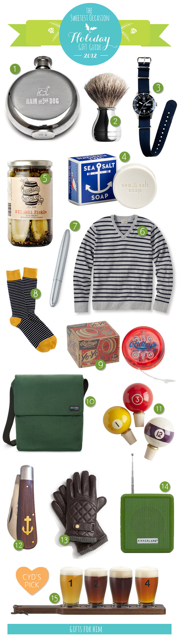 The Gift Guide: Gifts for Him | Gift, Christmas 2014 and Stocking ...
