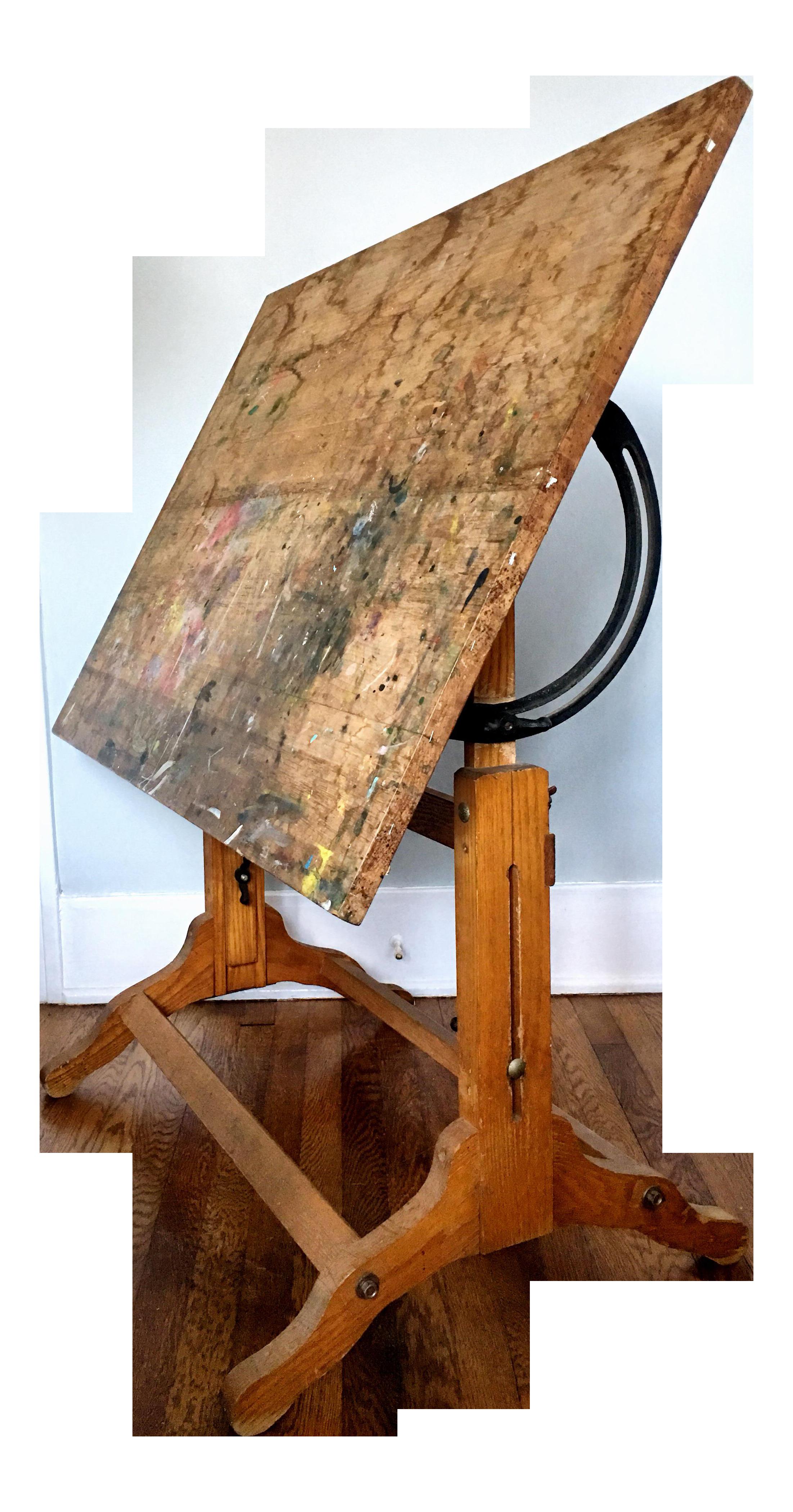 Antique American Adjustable Drafting Desk Table On Chairish Com Drafting Desk Table Desk Desk
