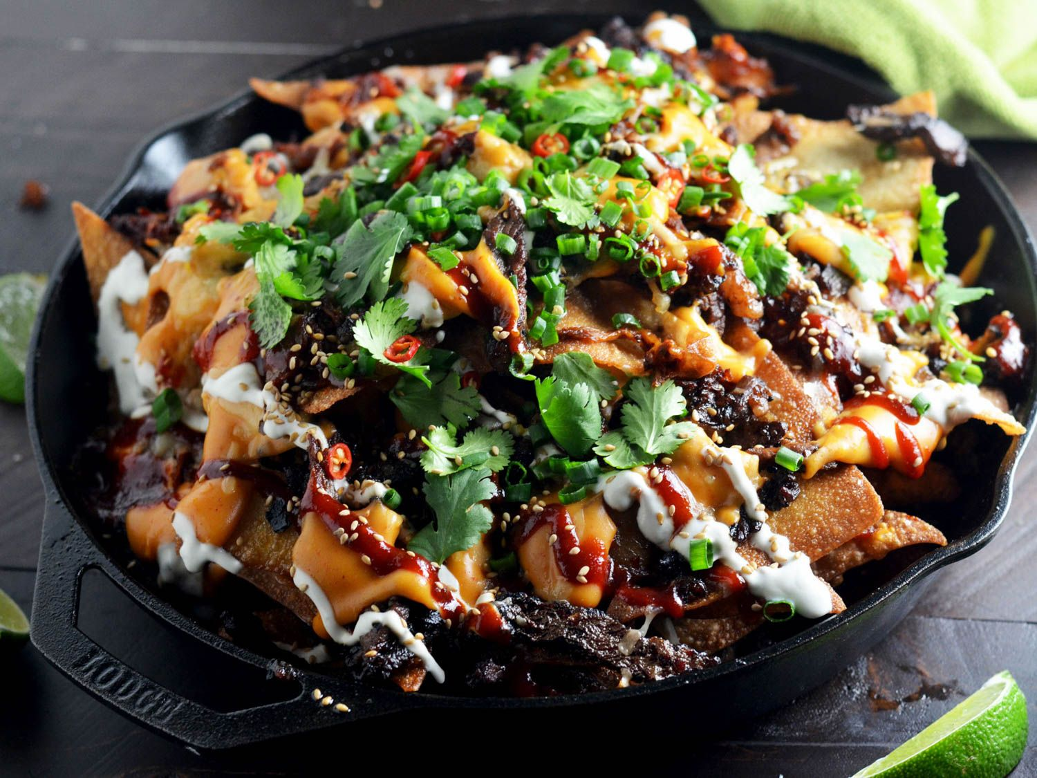 One skillet korean nachos will shake up your party menu recipe one skillet korean nachos will shake up your party menu nacho recipesasian food forumfinder Images
