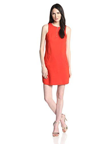 The Mima ponte dress is a cute shift dress with a sexy zip detail at the neckline. #Fashion  #Amazon