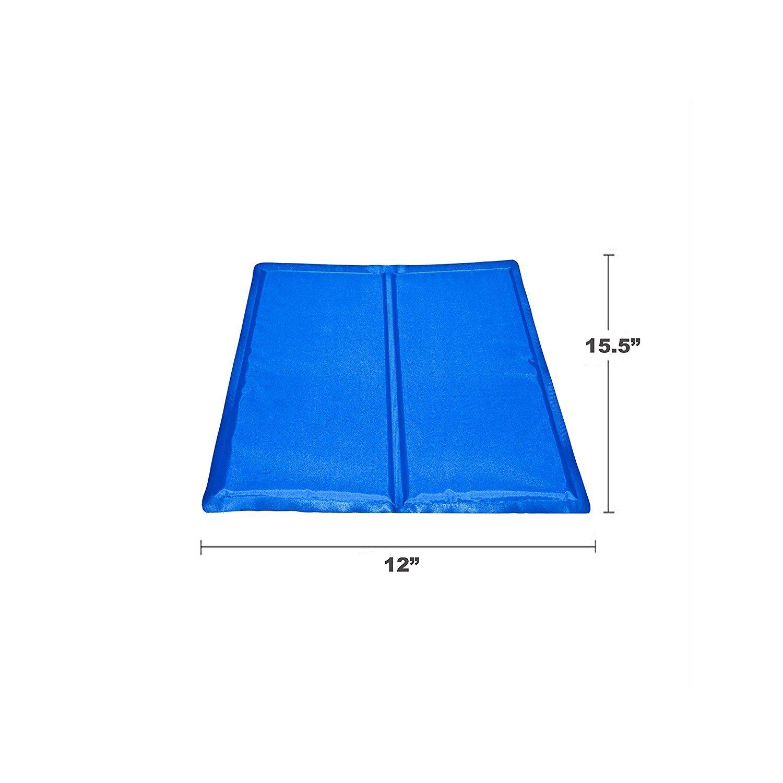 Aleko Lcb S Pet Cooling Mat Cool Bed 15 5 X 12 Inch Blue Pet