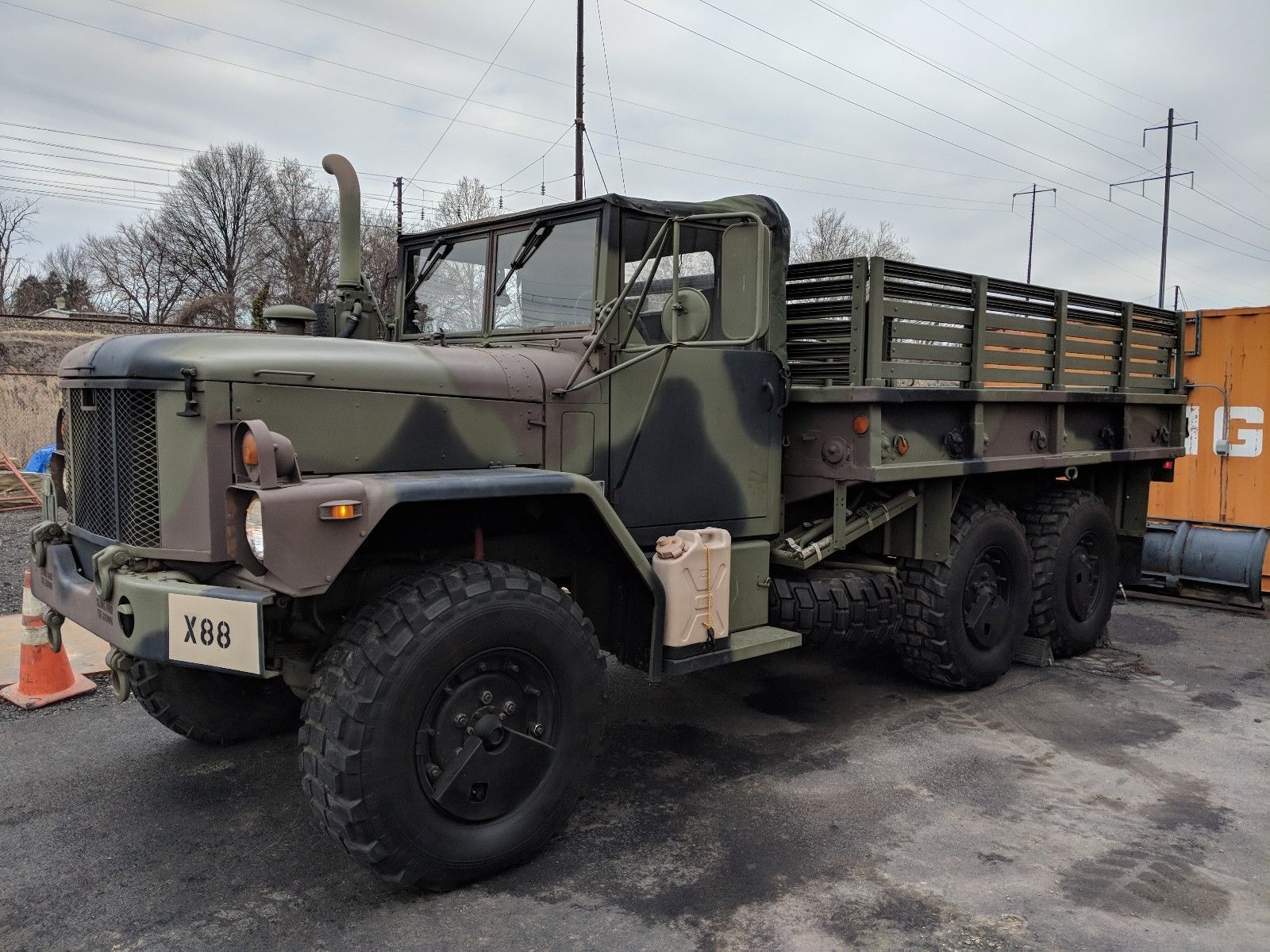 garaged 1993 AM General M35a3 Duece and 1 2 military