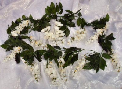 Here Is Your White Wisteria Vines For Ceremony Decorations Silk As Wont