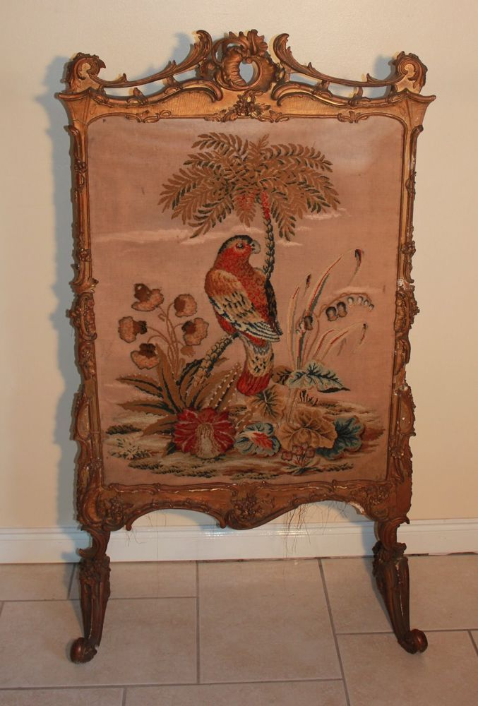 french rococo fireplace beautiful antique french gilt gesso fire screen 18th century