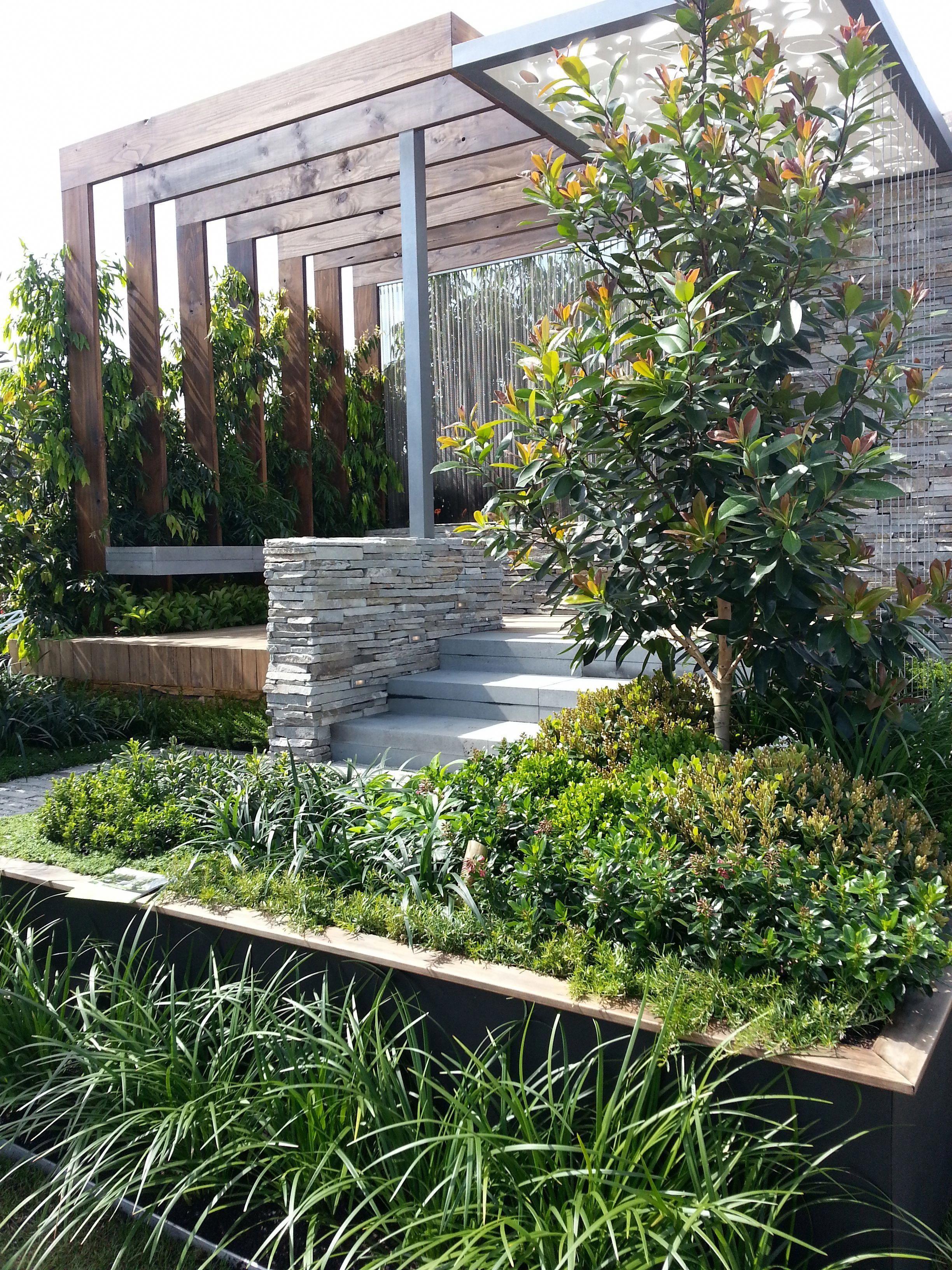 Landscape Gardening Bath Sloped Garden Modern Garden Landscape Design Modern backyard landscaping ideas australia