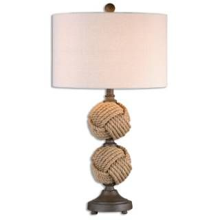 Check out the Uttermost 26615-1 Higgins 1 Light Rope Spheres Table Lamp