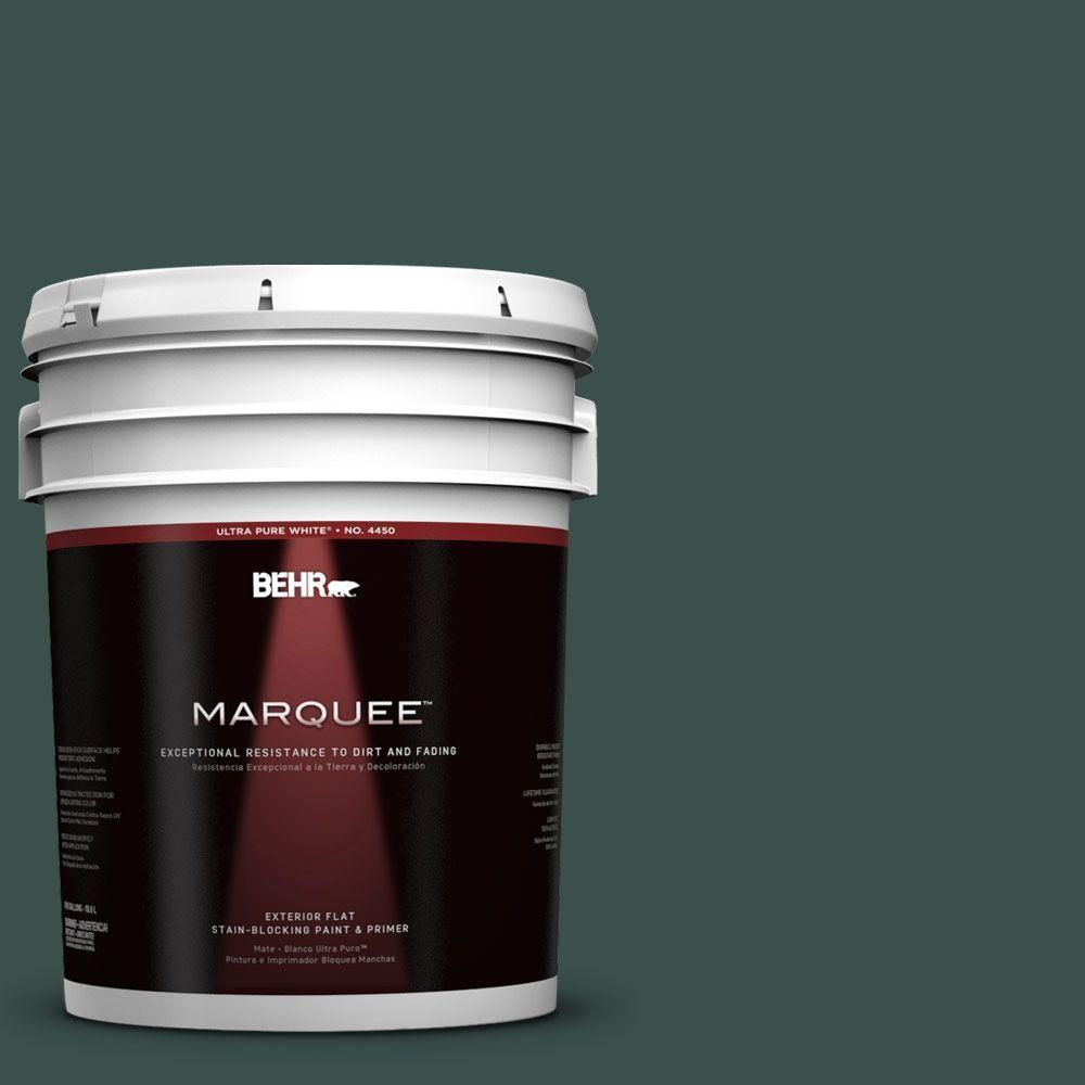 BEHR MARQUEE 5-gal. #480F-7 Sycamore Tree Flat Exterior Paint