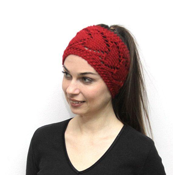 Red Headband Heartshaped Head band in Heart Pattern Head Wrap, Red ...