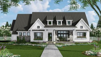 Plan 14668RK: 3-Bed Modern Farmhouse with Finished Bonus Room #modernfarmhousestyle