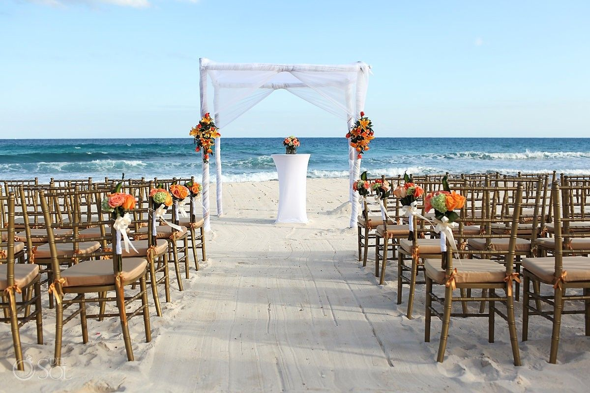 Pretty Beach Ceremony Set Up At The @Valentin Imperial Maya All Inclusive In