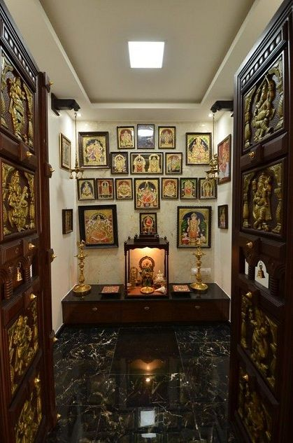 9 Traditional Pooja Room Door Designs In 2020: 50 Latest False Ceiling Designs With Pictures