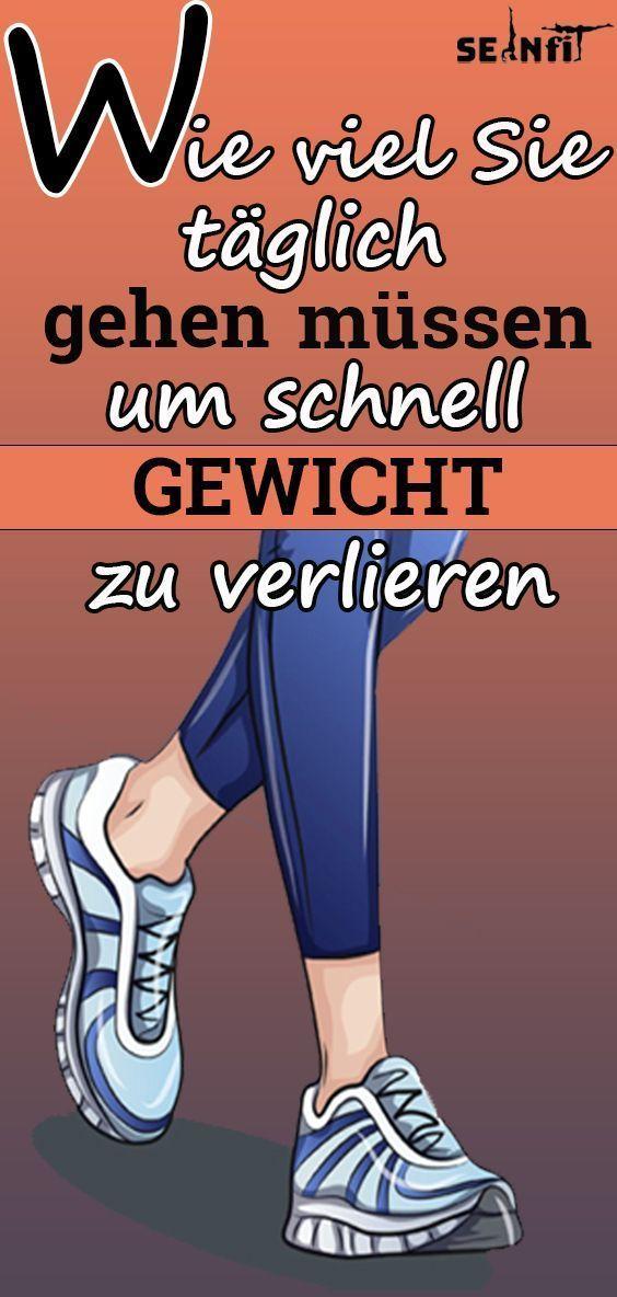 Wie viel Sie täglich gehen müssen un schnell Gewicht zu verlieren,  #Fitness #Gehen #gesundundfit #G...
