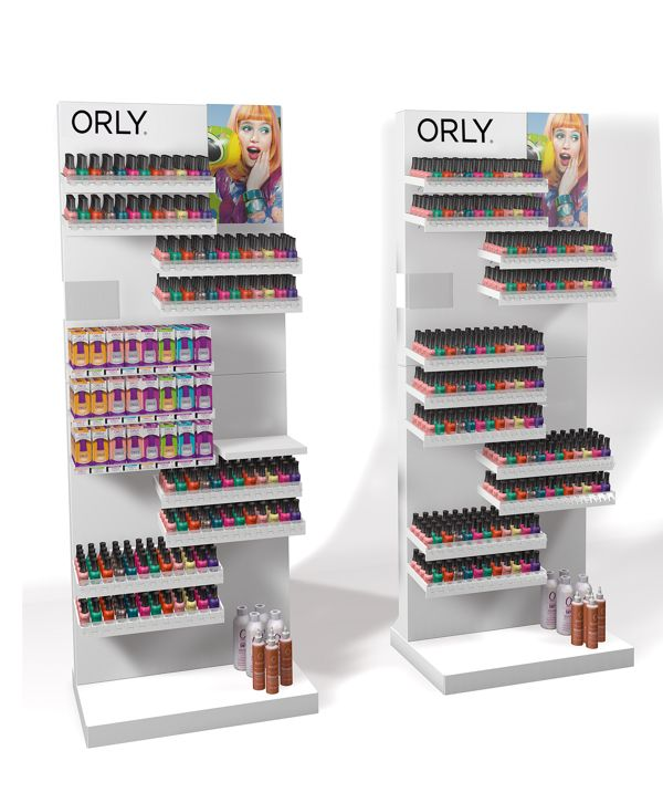 Orly Nail Polish Display Stand On Behance Pop