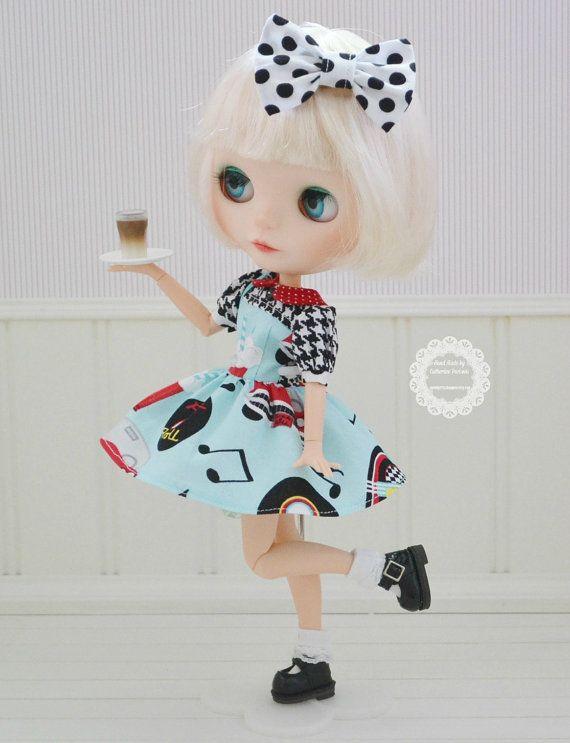 Sweet Petite 50's Diner Retro Dress for Blythe
