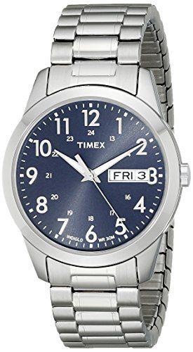 Timex Men's T2M933 Elevated Classics Silver-Tone Dress Watch with Stainless Steel Expansion Band Timex http://www.amazon.com/dp/B001RNOAM8/ref=cm_sw_r_pi_dp_K3KUwb069P60W