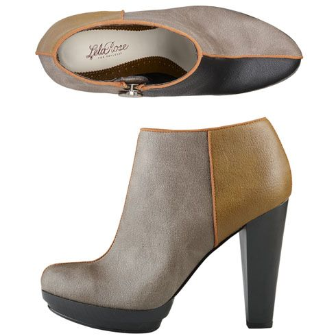 Lela Rose for Payless Colorblock Booties. Under $40.