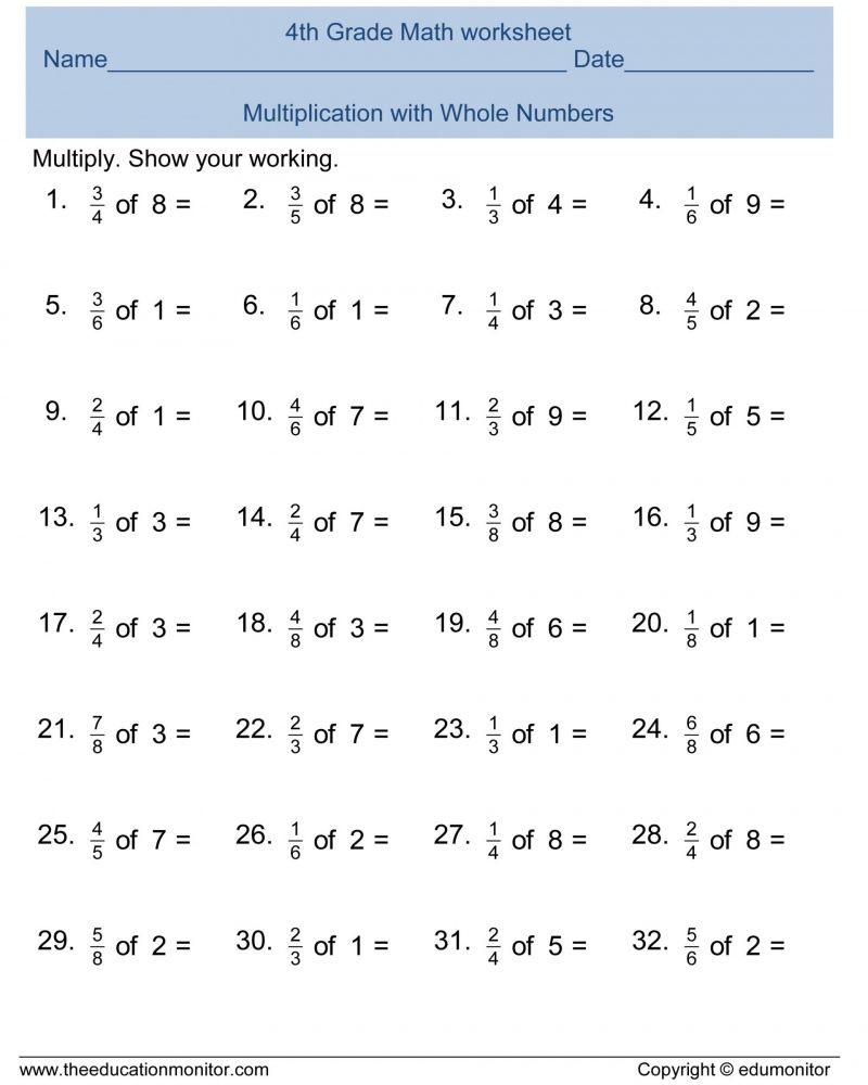 Free Printable Math Worksheets Sheets For 4th Grade Multiplication Worksh Addition And Subtraction Worksheets Printable Math Worksheets Subtraction Worksheets