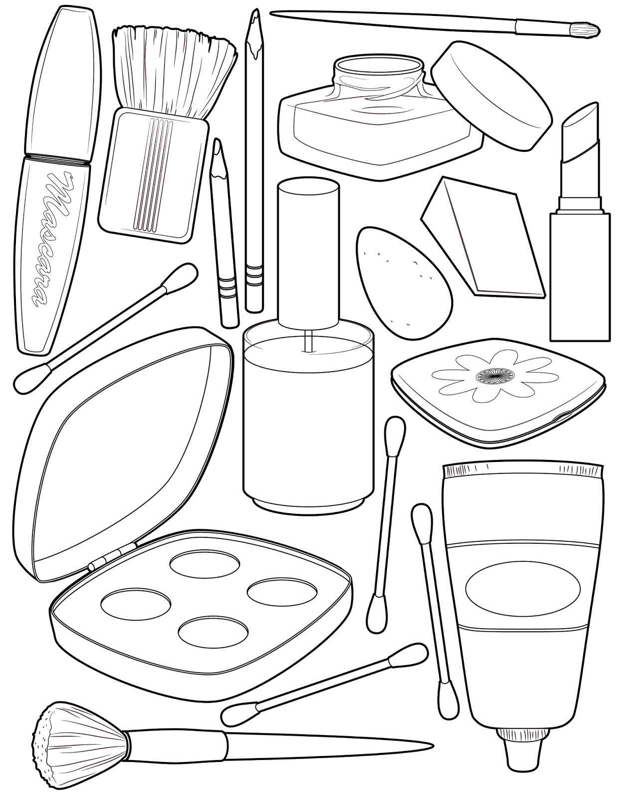 It's Friday! Makeup Coloring Page Coloring pages
