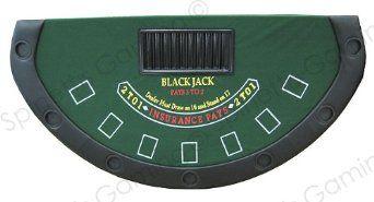 Amazon.com: 72'' mesa de blackjack con patas plegables (Green Felt): Deportes y tiempo libre