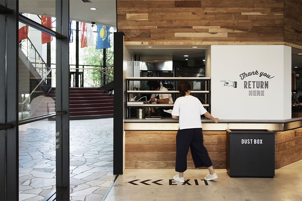 Eight Design 愛知県日進市の名古屋商科大学内にオープンした学食カフェ Sora Cafe 名古屋商科大学 の店舗デザイン 店舗デザイン デザイン カフェ