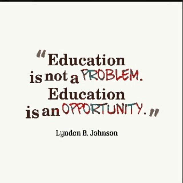Everybody Deserves The Gift Of Education In Order To Grow And