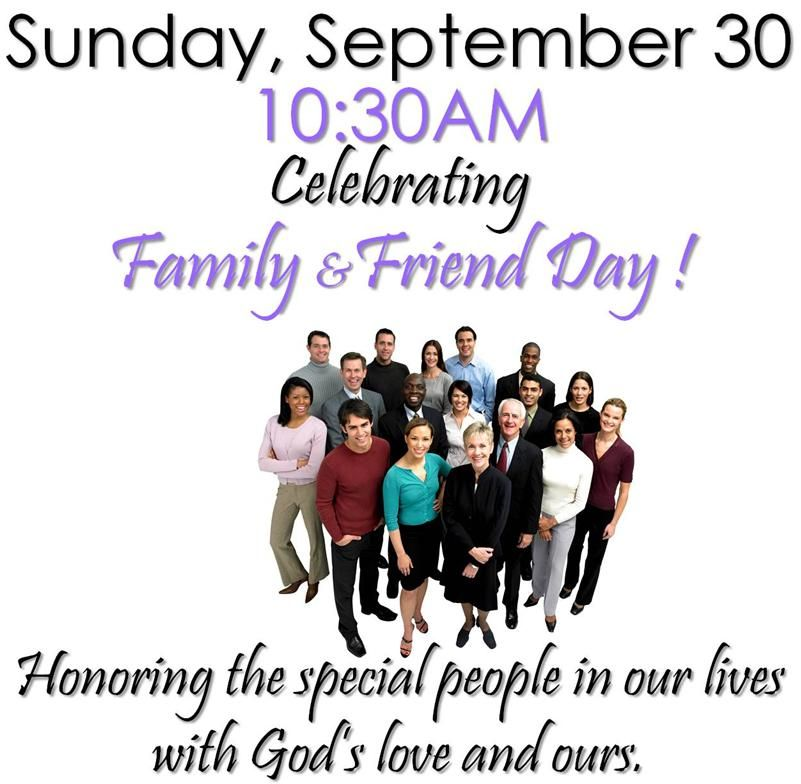 Theme For Family And Friends Day  Friends And Family Day At