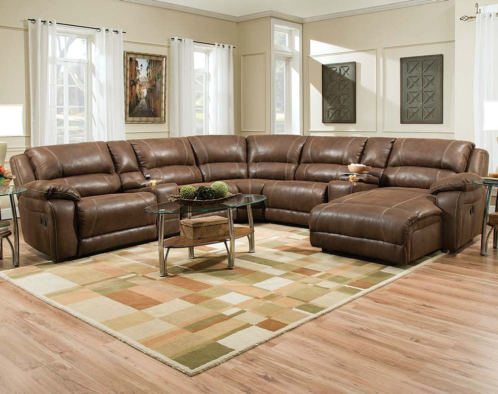 Dark Brown Bonded Leather Sofa | Renegade Mocha Reclining Sectional : brown reclining sectional sofa - Sectionals, Sofas & Couches