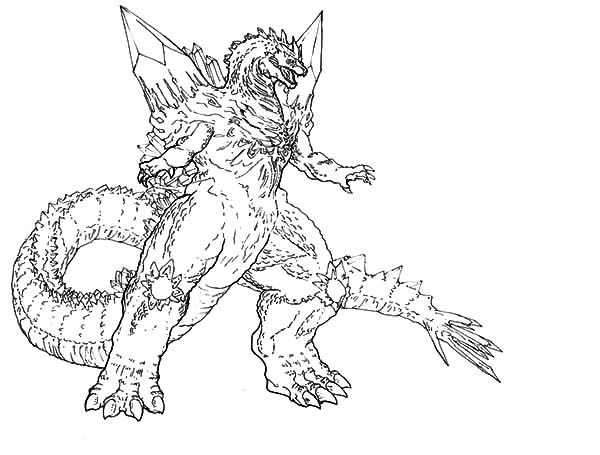 childrens godzilla coloring pages - photo#19