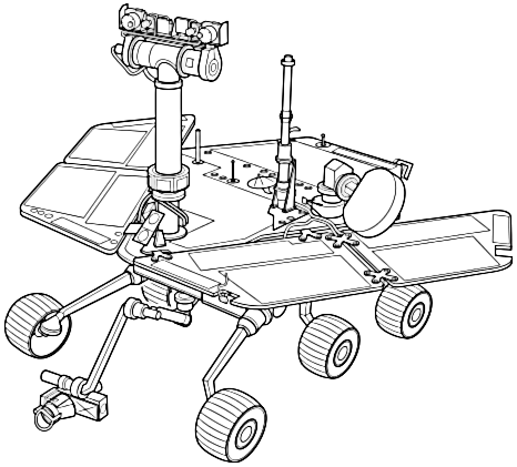 Mars Exploration Rover Mars Rover Mars Exploration Rover Space Coloring Pages
