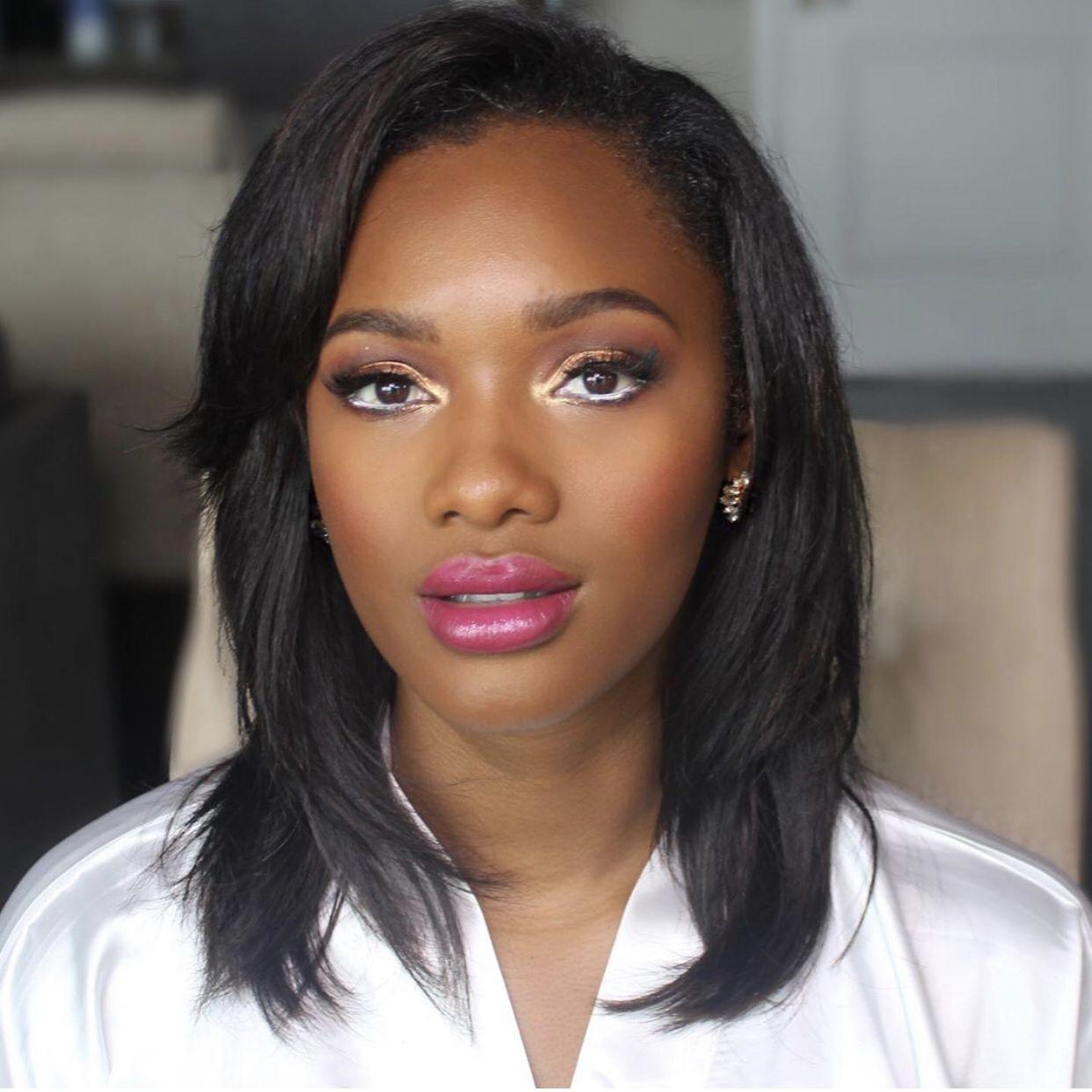 Black San Diego makeup artist bridal wedding makeup for