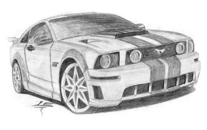 Best Car Drawings Ford Mustang Muscle Car Places To Visit