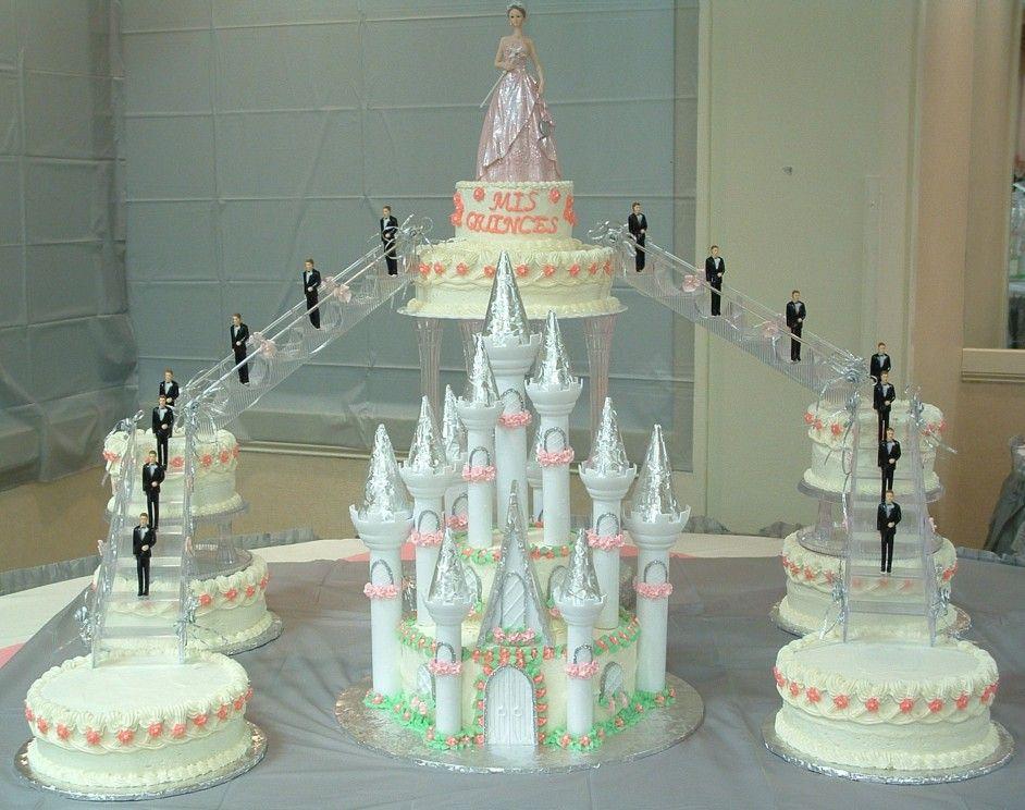 Sweet 15 Birthday Cakes sweet 15 castle cake 4 tier castle cake