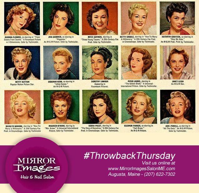 Classic & Vintage 1950's Hairstyles. #ThrowbackThursday