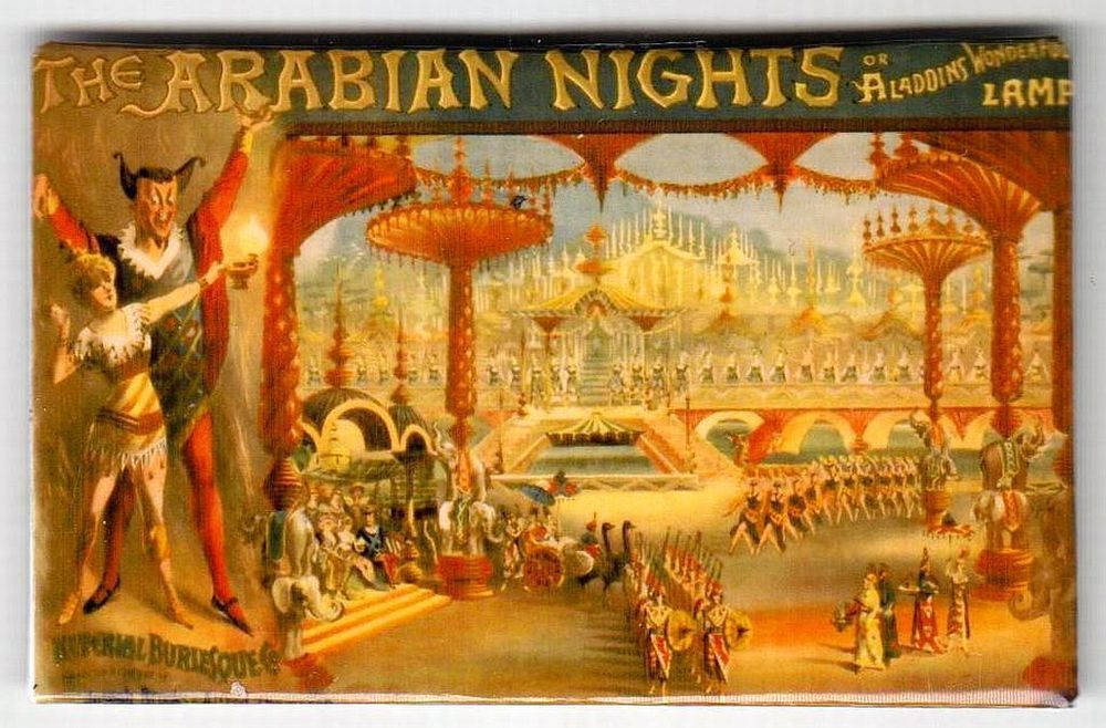 Calamita - Magnete da frigo - Locandina Teatrale d'epoca - Arabian Nights