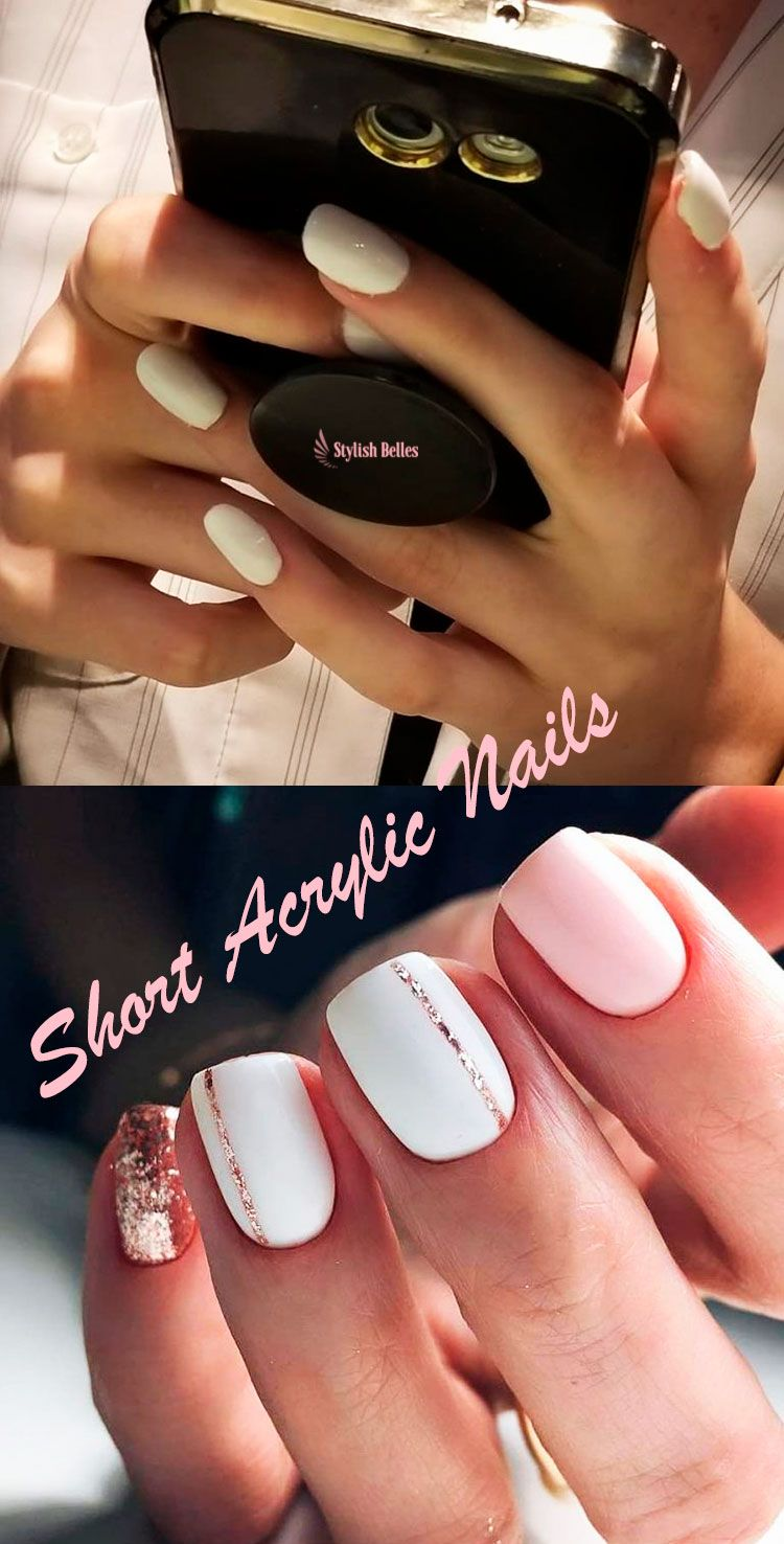 So Cute Short Acrylic Nails Ideas You Will Love Them With