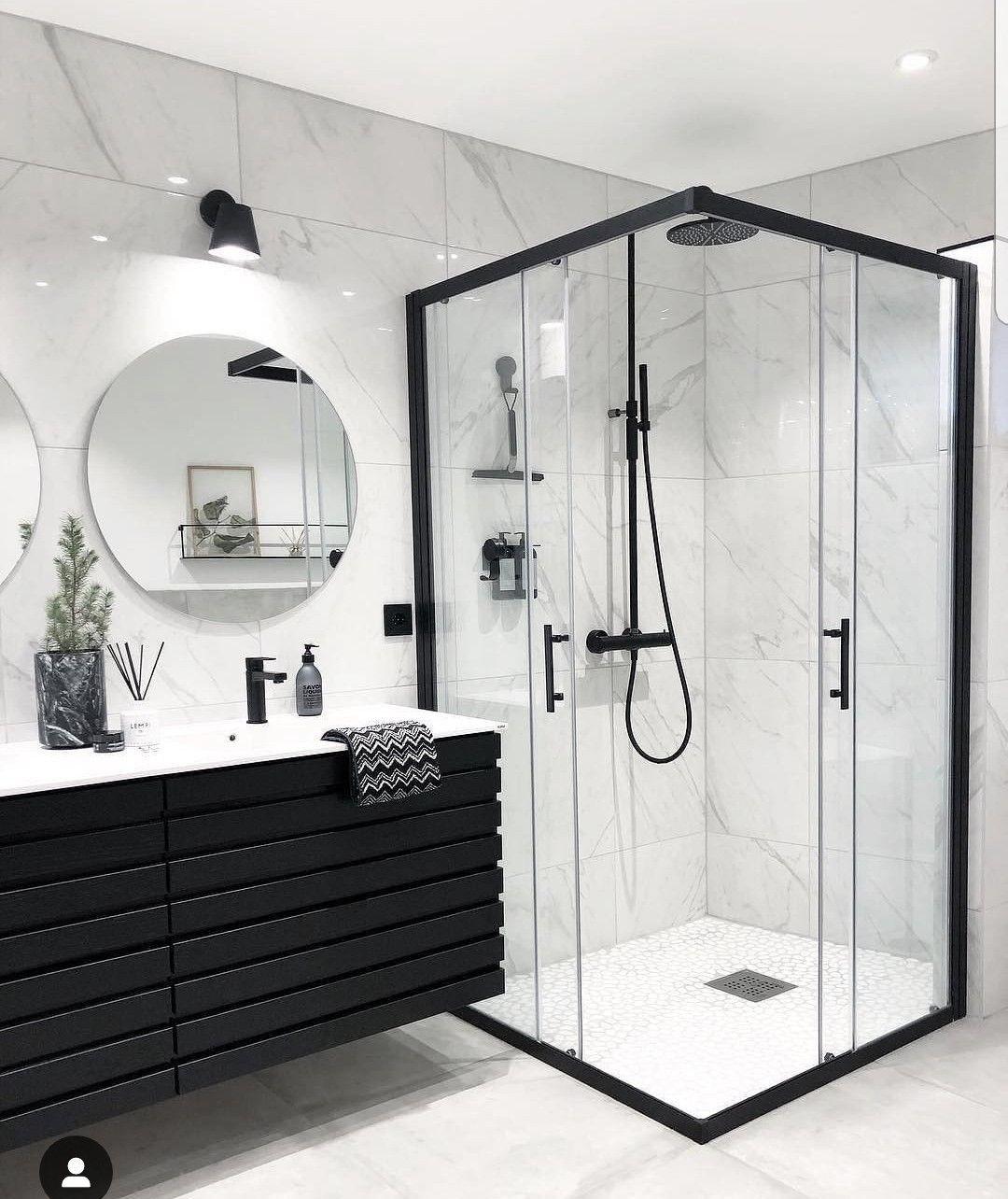Modern Black And White Modern Luxury Bathroom Elegant Bathroom Design Bathroom Interior Design