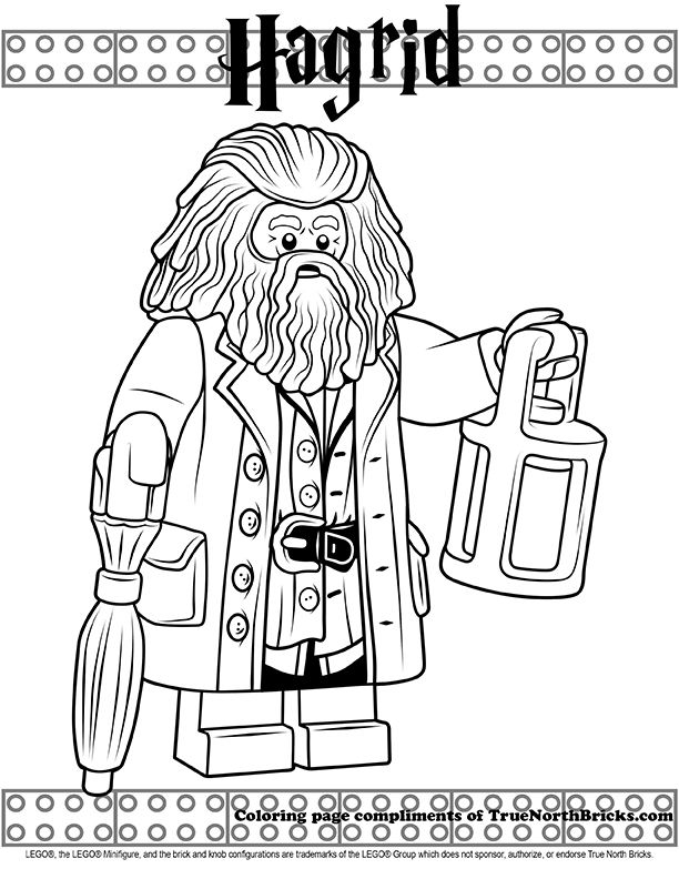 Coloring: Hagrid | Harry potter coloring pages, Lego ...
