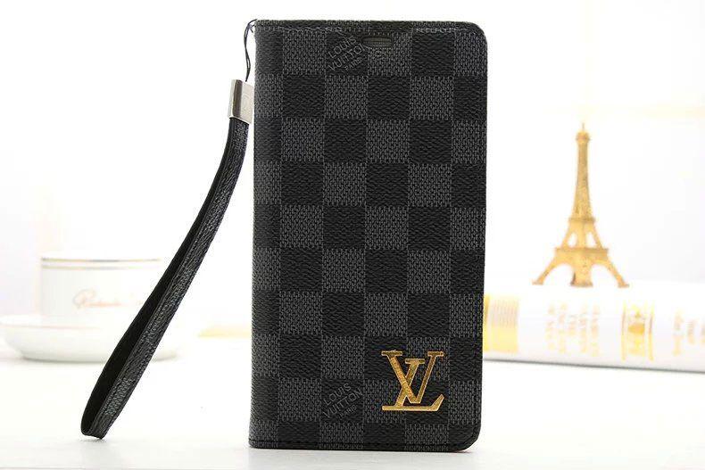 9f509d21d685 Louis Vuitton Luxury Samsung Galaxy S7 Wallet Case Cover Black ...