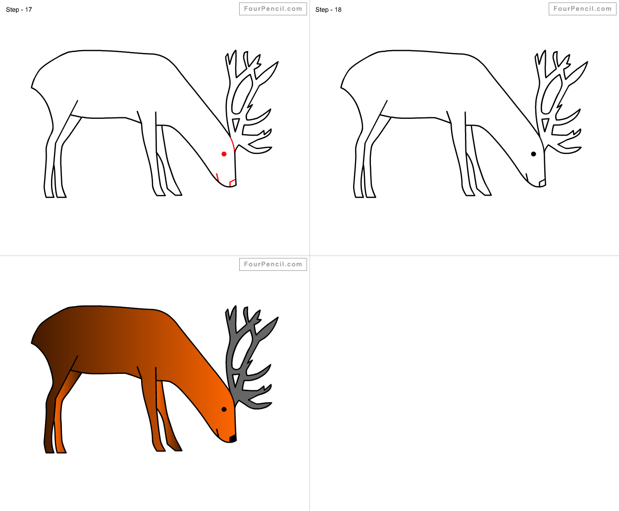 How To Draw Deer For Kids Step By Step Drawing Tutorial Draw Deer