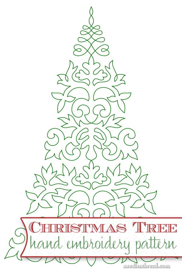 Embroider a Christmas Tree! | Pinterest | Plattstich, Stickmuster ...