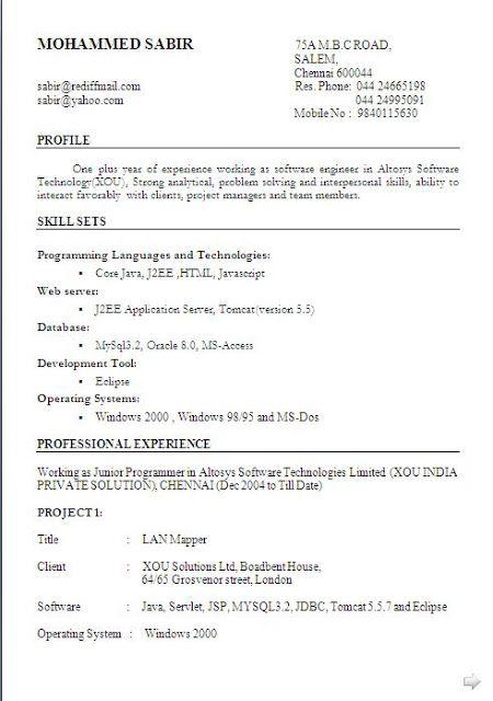 best resume sample 2013 free download Sample Template