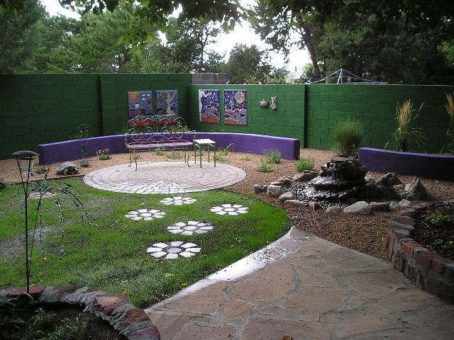 Red Twig Landscaping Who Knew You Could Paint The Cinderblock Wall Like This Backyard Backyard Patio Landscape Design