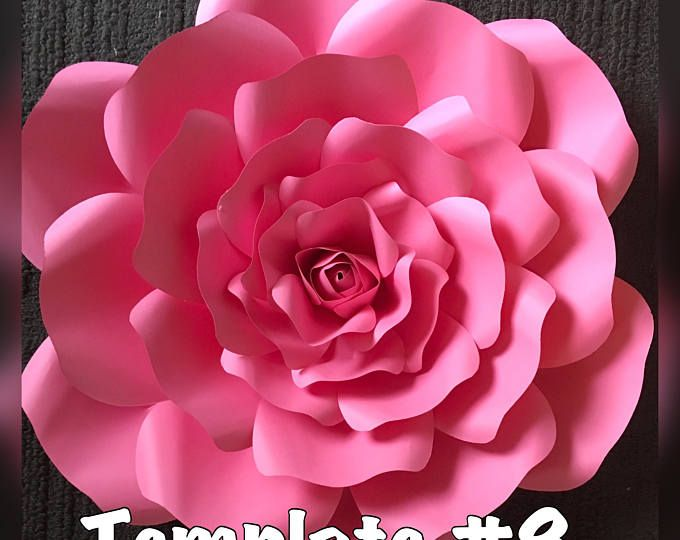 Template 8 paper flower diy diy pinterest flower template template 8 paper flower diy mightylinksfo