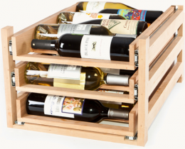 Wine Logic's in-cabinet wine racks can be easily installed (or removed) from your kitchen cabinets in minutes!