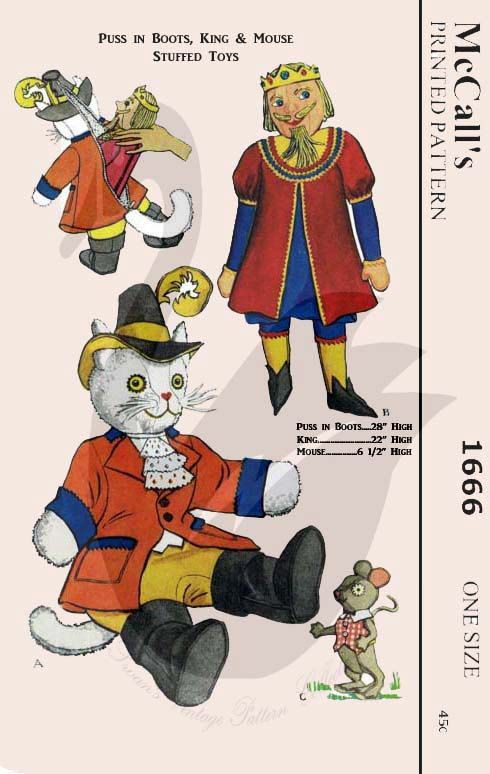 Puss in Boots sewing pattern