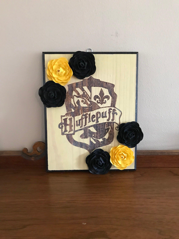 1b4fd6fa Paper Flowers Wall Decor Hanging Cardstock Ranunculus Hufflepuff House # hufflepuff #hogwarts #harrypotter