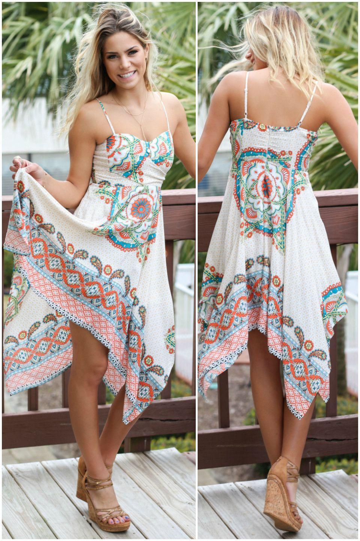1c971a948d5 Summer Loving Handkerchief Hem Dress